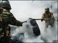 Nairobi police operations. 17 Jan