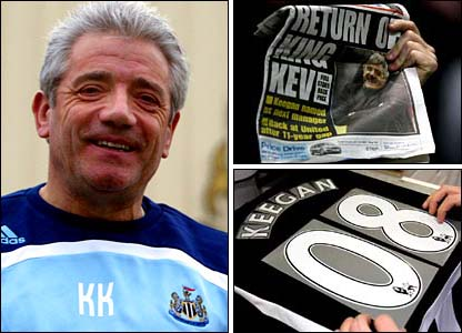 Kevin Keegan is back as manager of Newcastle