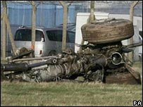 Wreckage of landing gear