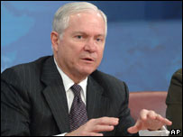 Robert Gates at Pentagon briefing. 17 Jan