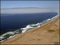 Coastline close to the Chile-Peru border
