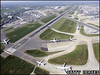 Heathrow Airport pictured in April 2007