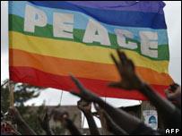 Peace banner in Nairobi