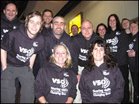 Libby Lawrence (front left) and the VSO team