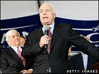 John McCain campaigns in South Carolina