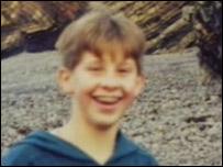 Simon Kelly as a boy