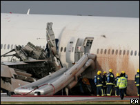 Crashed Boeing 777
