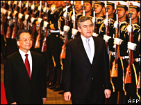 Gordon Brown and Premier Wen Jiabao