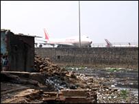 Slum near the Mumbai airport