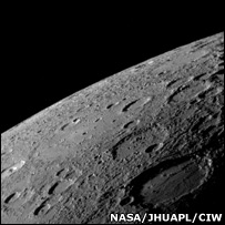 Messenger's approach to Mercury (Nasa)