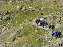 Walkers in Snowdonia