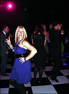 Gail Emms on the dancefloor at Sports Personality of the Year