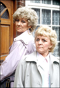 Vera Duckworth and Ivy Tilsley in 1988