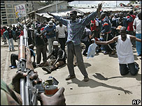 Opposition protesters clash with police on the second day of protests