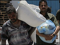 Gaza UN supplies - file picture