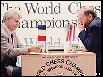 Boris Spassky y Bobby Fischer en la revancha de 1992 en Yugoslavia