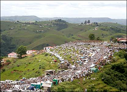 Pilgrims dressed in white flock to Kwazulu-Natal in January