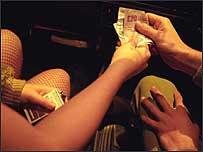 Prostitutes and money
