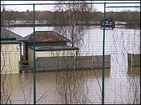 Newark cricket ground flooded