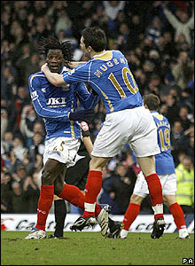 Benjani equalises for Pompey