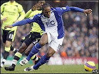 Cameron Jerome hit the post for Birmingham against Chelsea