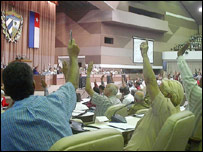 El parlamento elige entre sus miembros al presidente del Consejo de Estado (Foto: Raquel Pérez)