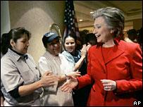 هيلاري كلينتون بين أنصار حملتها