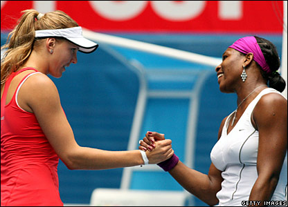Nicole Vaidisova and Serena Williams