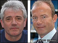 Newcastle manager Kevin Keegan (left) and the club's former striker and legend Alan Shearer