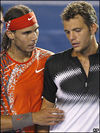 Rafael Nadal and Paul-Henri Mathieu