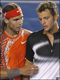 Rafael Nadal and Paul-Henri Mathieu