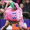 Stade Francais are resplendent in pink