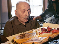 Louis de Cazenave on his 110th birthday, 16 October 2007
