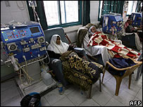 A kidney dialyses unit of the al-Shifa Hospital in Gaza City on 20 January