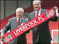 Liverpool's co-owners George Gillett (left) and Tom Hicks