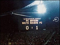 Raith Rovers famously led Bayern Munich in the Uefa Cup (copyright Eddie Doig)