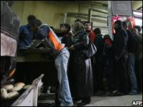 Queue for bread in Gaza City