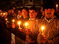 الشموع في غزة