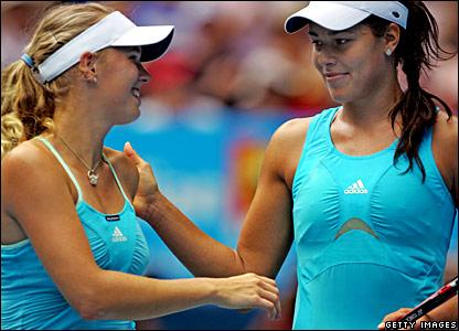Caroline Wozniacki and Ana Ivanovic