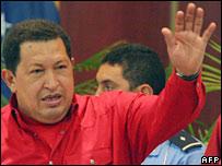 El presidente venezolano, Hugo Chávez