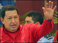 El presidente venezolano, Hugo Ch�vez
