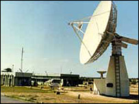 Satellite dish in Andhra Pradesh