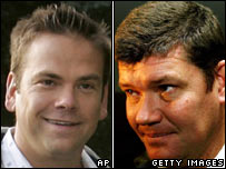 Lachlan Murdoch (left) and James Packer