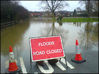 New Park Road in flood