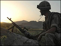 UK soldier in Afghanistan. Picture by Ministry of Defence