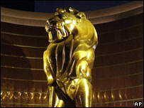 Lion statue at the front of the new MGM Grand Macau