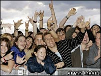 Fans at the Reading Festival in 2007