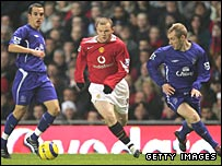 Leon Osman (left) and Tony Hibbert (right)