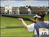 An artist's impression of Olympic shooting at Woolwich Barracks