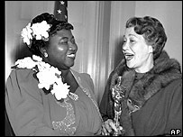 Hattie McDaniel was presented her Oscar by actress Fay Bainter